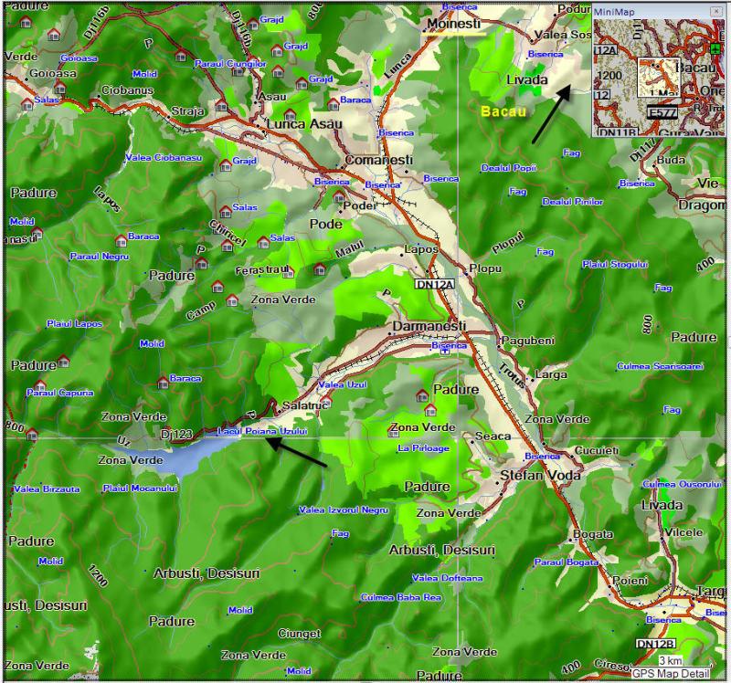 harta valea uzului